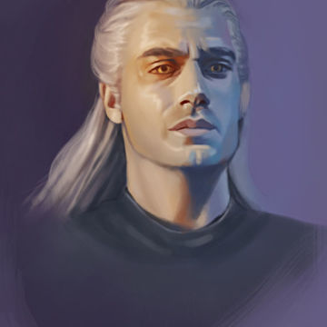 Geralt. Witcher. Fanart