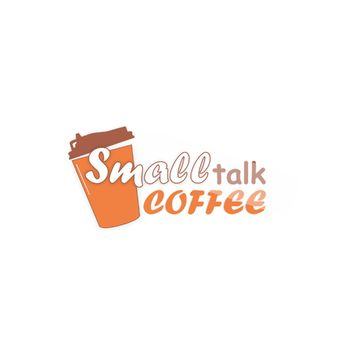 Логотип для small talk coffee