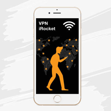 Разработка дизайна приложения VPN irocket 1