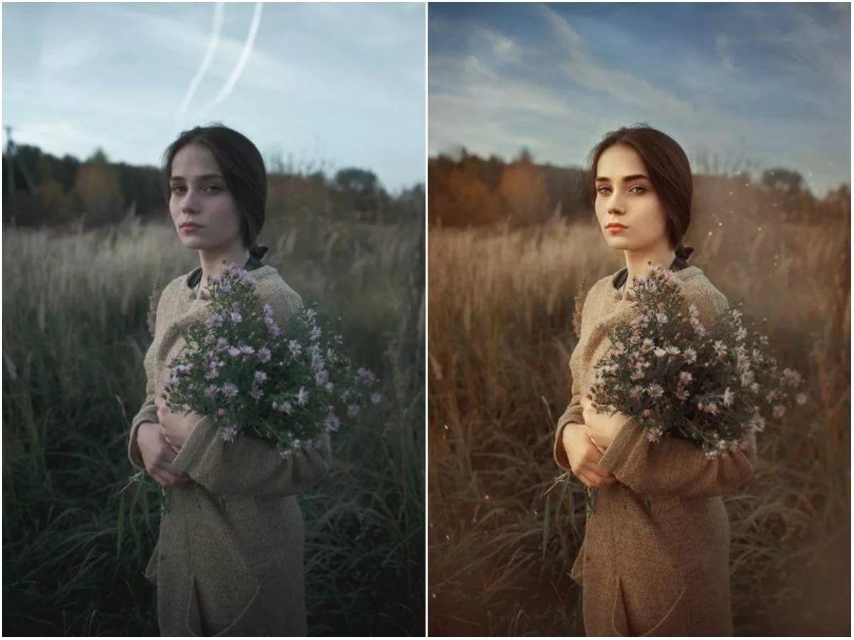Как скопировать цветокоррекцию с фото